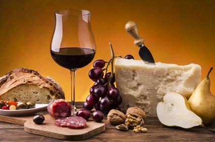 Parmesan und Rotwein - lecker