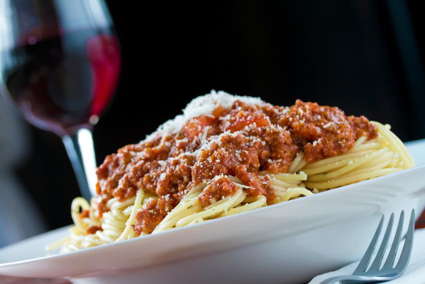 Spaghetti Bologenese & Rotwein