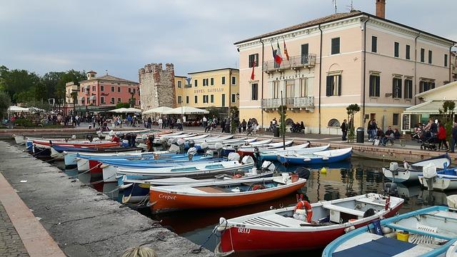 Der kleine Hafen von Bardolino