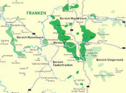 Weinbauregionen Franken