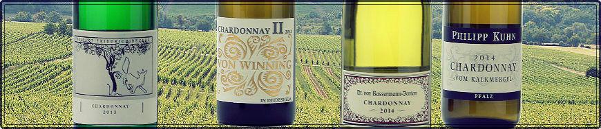 Chardonnay Weisswein aus der Pfalz
